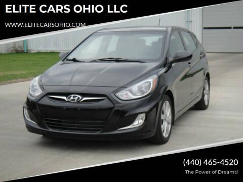 2012 Hyundai Accent for sale at ELITE CARS OHIO LLC in Solon OH