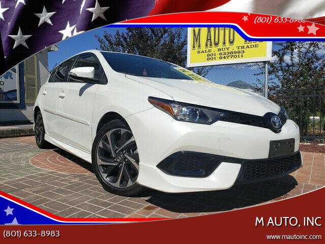 2018 Toyota Corolla iM for sale at M AUTO, INC in Millcreek UT