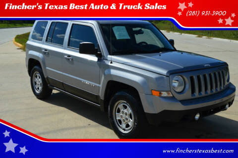 2015 Jeep Patriot for sale at Fincher's Texas Best Auto & Truck Sales in Tomball TX