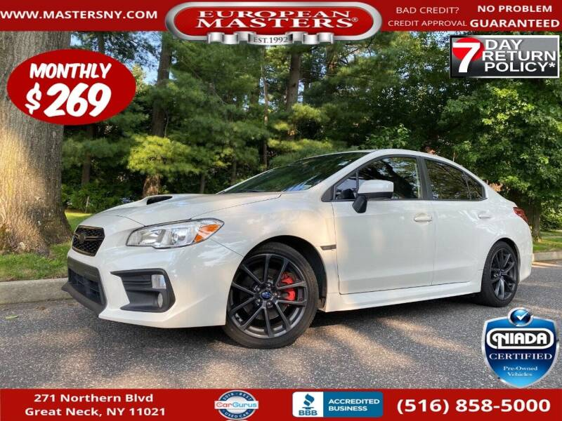 2018 Subaru WRX for sale at European Masters in Great Neck NY