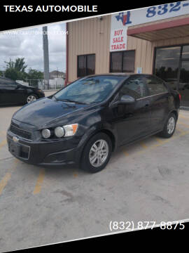 2013 Chevrolet Sonic for sale at TEXAS AUTOMOBILE in Houston TX