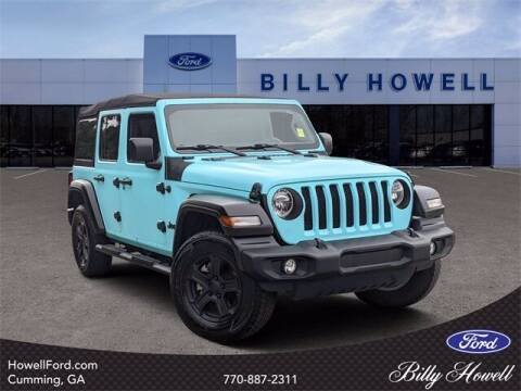 2019 Jeep Wrangler Unlimited for sale at BILLY HOWELL FORD LINCOLN in Cumming GA