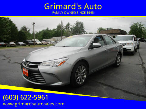 2016 Toyota Camry for sale at Grimard's Auto in Hooksett NH