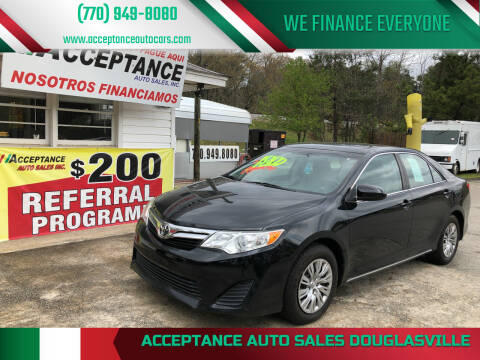 2014 Toyota Camry for sale at Acceptance Auto Sales Douglasville in Douglasville GA