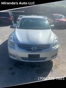 2012 Nissan Altima for sale at Miranda's Auto LLC in Commerce GA