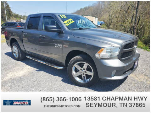 2013 RAM Ram Pickup 1500 for sale at Union Motors in Seymour TN