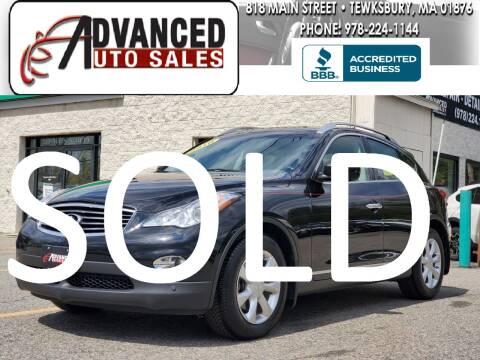 2010 Infiniti EX35 for sale at Advanced Auto Sales in Tewksbury MA