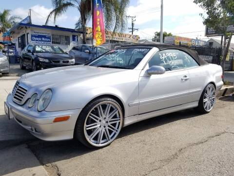 2002 Mercedes-Benz CLK for sale at Olympic Motors in Los Angeles CA