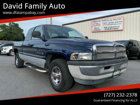2001 Dodge Ram Pickup 1500 for sale at David Family Auto in New Port Richey FL