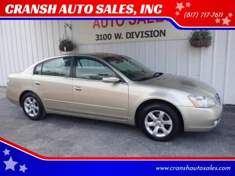 2002 Nissan Altima for sale at CRANSH AUTO SALES, INC in Arlington TX