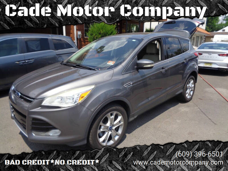 2013 Ford Escape for sale at Cade Motor Company in Lawrence Township NJ