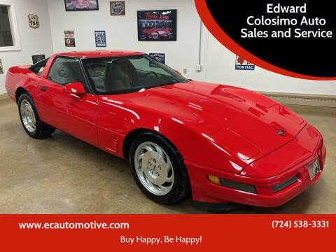 1996 Chevrolet Corvette for sale at Edward Colosimo Auto Sales and Service in Evans City PA
