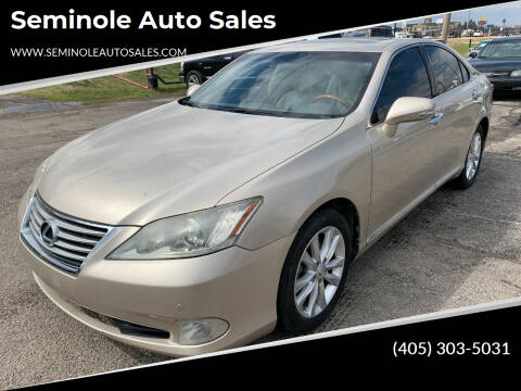 2010 Lexus ES 350 for sale at Seminole Auto Sales in Seminole OK