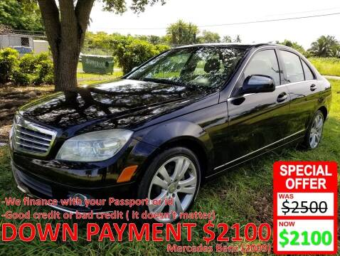 2009 Mercedes-Benz C-Class for sale at AUTO COLLECTION OF SOUTH MIAMI in Miami FL