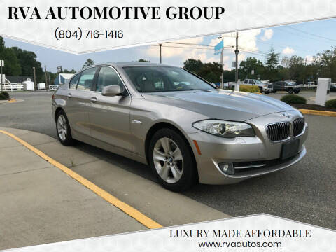 2012 BMW 5 Series for sale at RVA Automotive Group in North Chesterfield VA