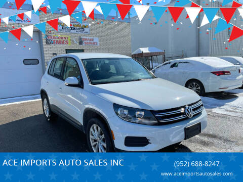 2017 Volkswagen Tiguan for sale at ACE IMPORTS AUTO SALES INC in Hopkins MN