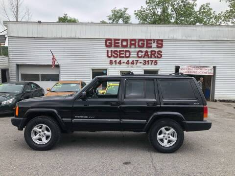 2001 Jeep Cherokee for sale at George's Used Cars Inc in Orbisonia PA