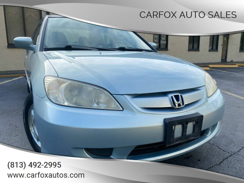 2005 Honda Civic for sale at Carfox Auto Sales in Tampa FL