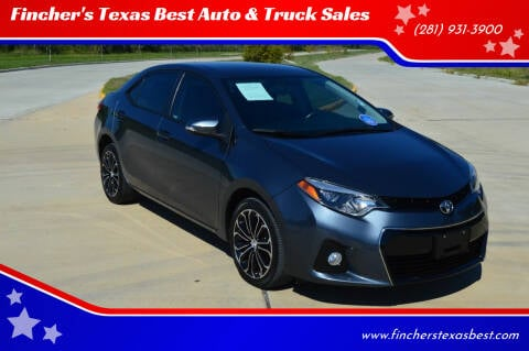 2015 Toyota Corolla for sale at Fincher's Texas Best Auto & Truck Sales in Tomball TX