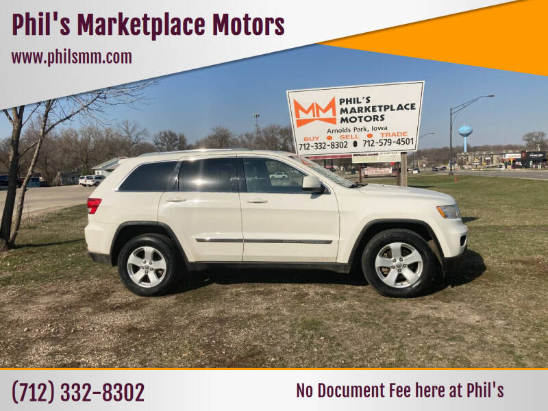 2012 Jeep Grand Cherokee for sale at Phil's Marketplace Motors in Arnolds Park IA