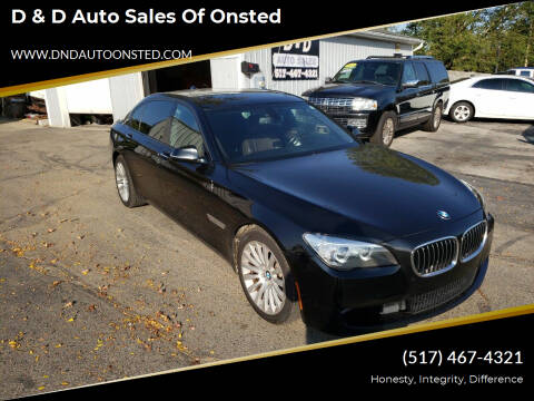 2013 BMW 7 Series for sale at D & D Auto Sales Of Onsted in Onsted   Brooklyn MI