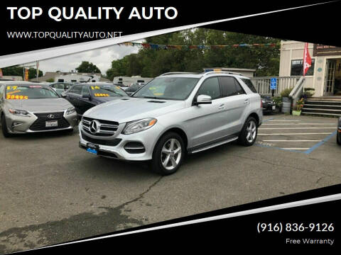 2016 Mercedes-Benz GLE for sale at TOP QUALITY AUTO in Rancho Cordova CA