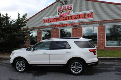 2018 Ford Explorer for sale at EXECUTIVE AUTO GALLERY INC in Walnutport PA