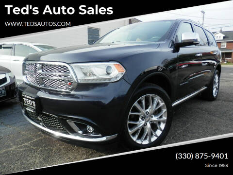 2015 Dodge Durango for sale at Ted's Auto Sales in Louisville OH