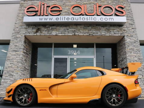 2016 Dodge Viper for sale at Elite Autos LLC in Jonesboro AR
