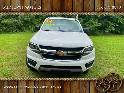 2016 Chevrolet Colorado for sale at Midtown Motors in Greenbrier TN