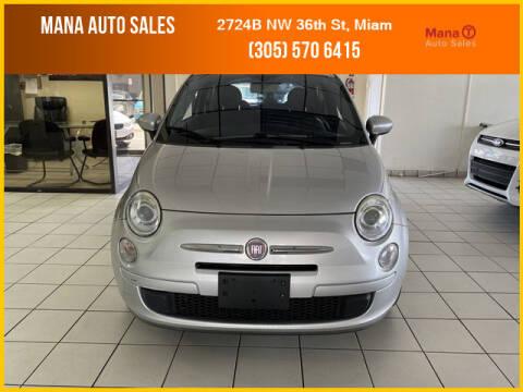 2012 FIAT 500 for sale at MANA AUTO SALES in Miami FL