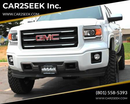 2014 GMC Sierra 1500 for sale at CAR2SEEK Inc. in Salt Lake City UT