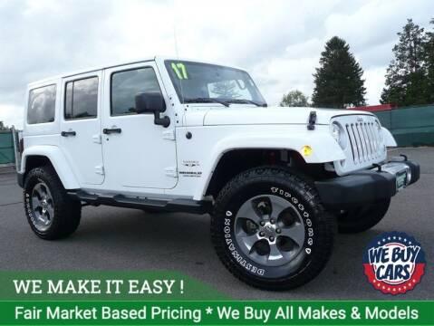 2017 Jeep Wrangler Unlimited for sale at Shamrock Motors in East Windsor CT
