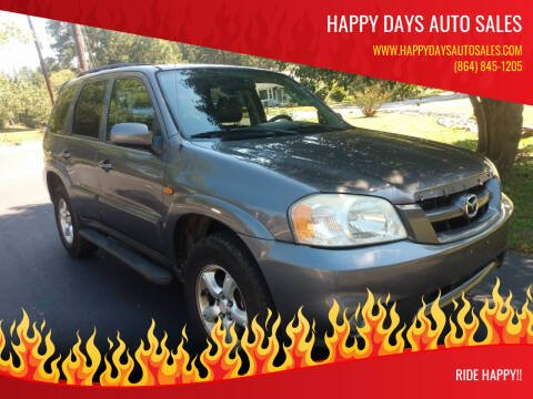 2005 Mazda Tribute for sale at Happy Days Auto Sales in Piedmont SC