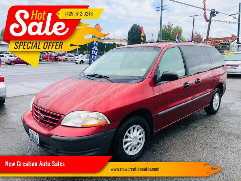 2000 Ford Windstar for sale at New Creation Auto Sales in Everett WA