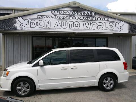 2012 Dodge Grand Caravan for sale at Don Auto World in Houston TX
