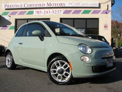 2012 FIAT 500 for sale at Prestige Certified Motors in Falls Church VA