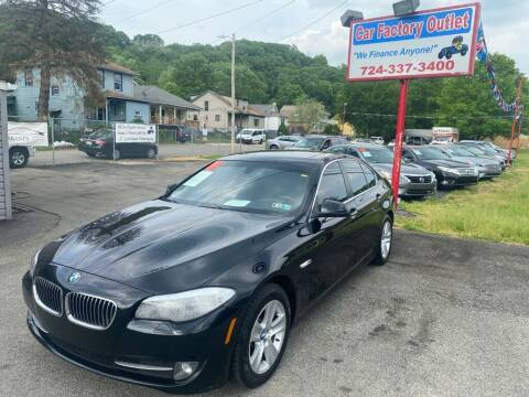 2013 BMW 5 Series for sale at Car Factory Outlet in Lower Burrell PA