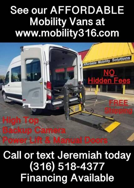 2016 Ford Transit Passenger for sale at Affordable Mobility Solutions, LLC - Mobility/Wheelchair Accessible Inventory-Wichita in Wichita KS