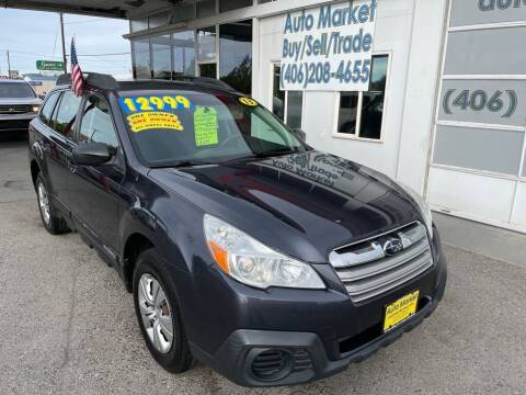 2013 Subaru Outback for sale at Auto Market in Billings MT