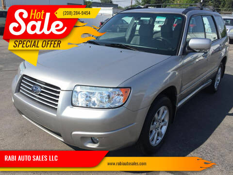 2007 Subaru Forester for sale at RABI AUTO SALES LLC in Garden City ID
