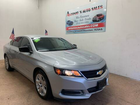 2017 Chevrolet Impala for sale at Antonio's Auto Sales - Antonio`s  2206 in Pasadena TX