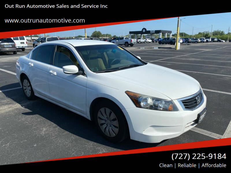 2009 Honda Accord for sale at Out Run Automotive Sales and Service Inc in Tampa FL