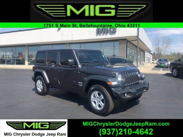2018 Jeep Wrangler Unlimited for sale at MIG Chrysler Dodge Jeep Ram in Bellefontaine OH