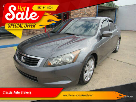 2009 Honda Accord for sale at Classic Auto Brokers in Haltom City TX