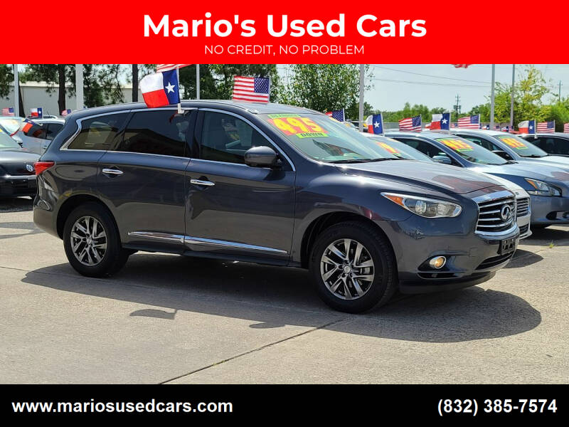 2013 Infiniti JX35 for sale at Mario's Used Cars in Houston TX