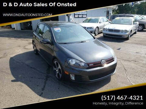 2012 Volkswagen GTI for sale at D & D Auto Sales Of Onsted in Onsted   Brooklyn MI
