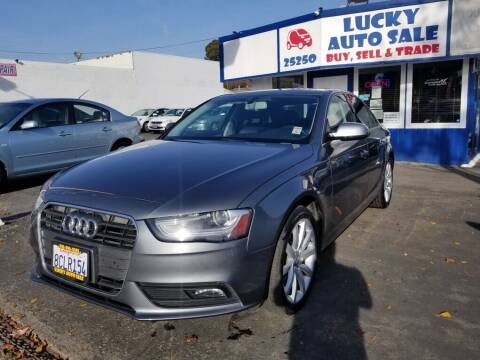 2013 Audi A4 for sale at Lucky Auto Sale in Hayward CA