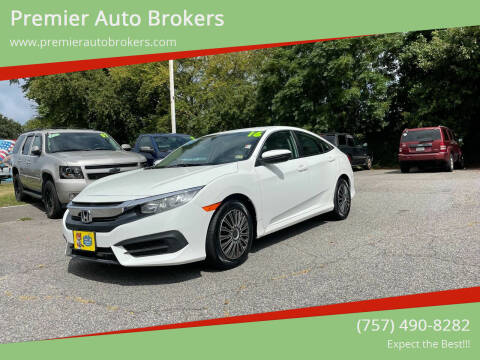 2016 Honda Civic for sale at Premier Auto Brokers in Virginia Beach VA