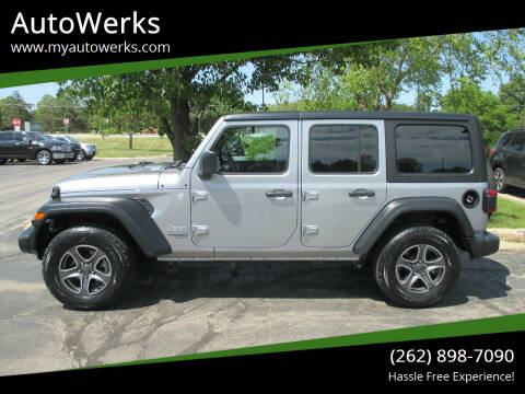 2018 Jeep Wrangler Unlimited for sale at AutoWerks in Sturtevant WI